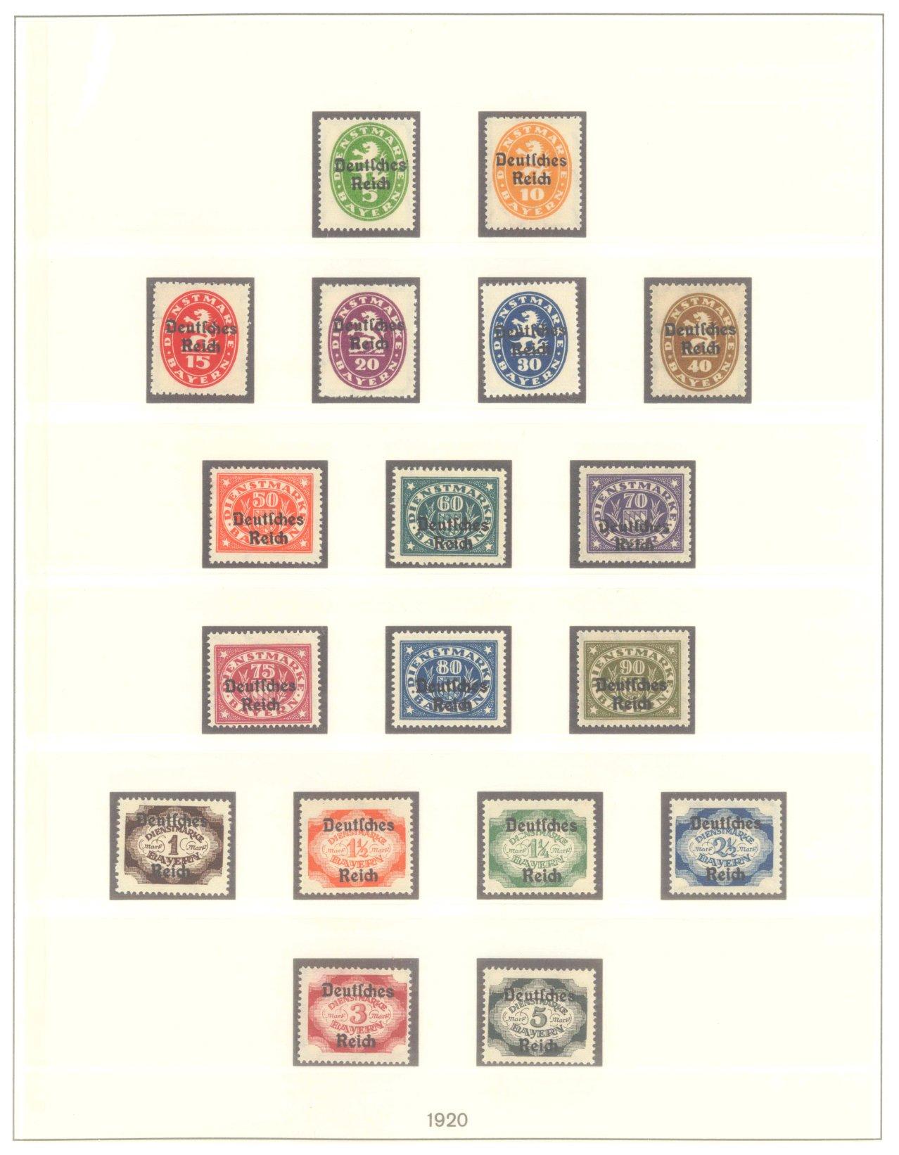 DEUTSCHES REICH INFLATIONSZEIT 1920-1923, Dienstmarken-1