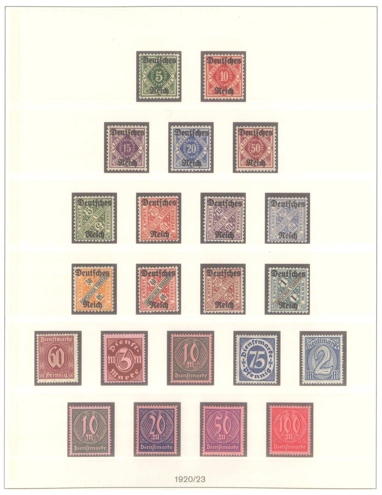 DEUTSCHES REICH INFLATIONSZEIT 1920-1923, Dienstmarken-2