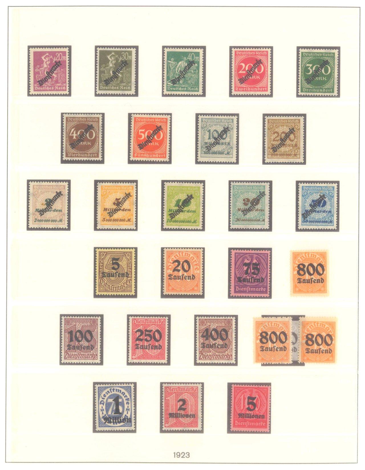 DEUTSCHES REICH INFLATIONSZEIT 1920-1923, Dienstmarken-3
