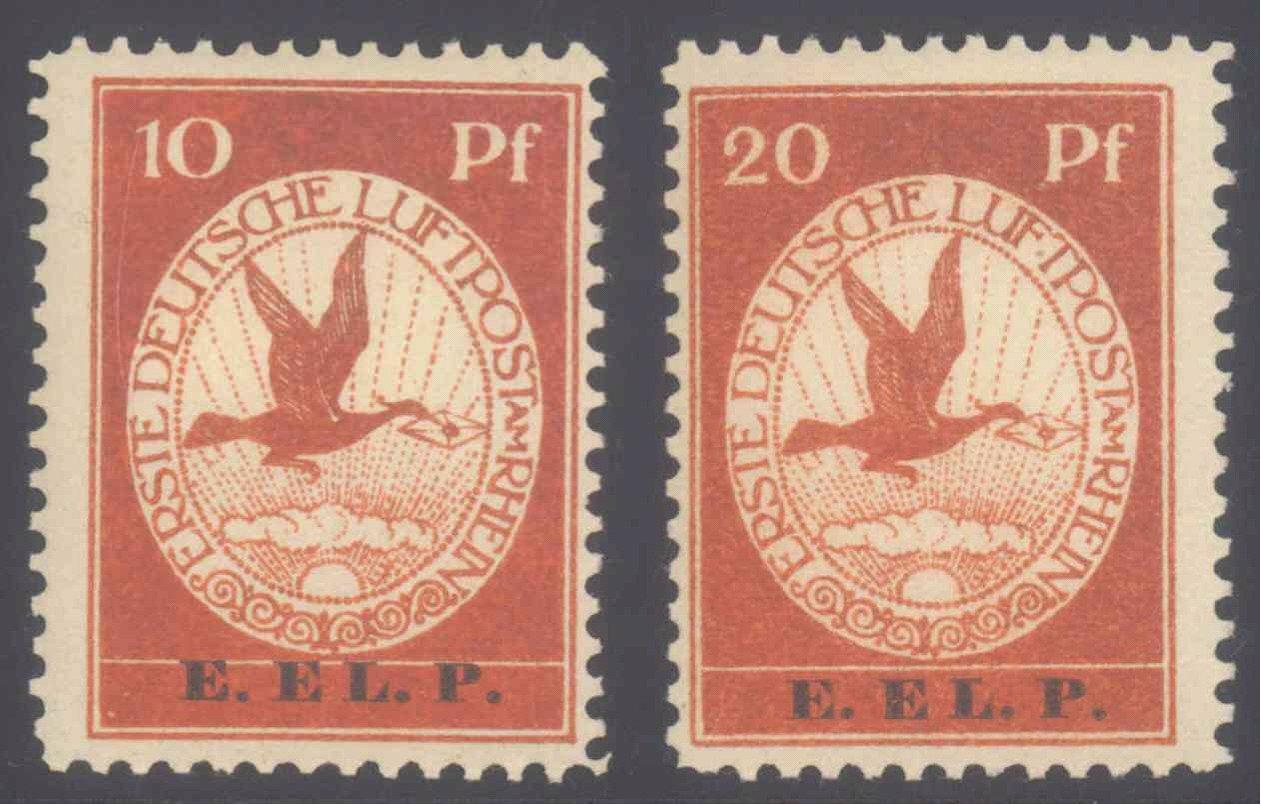 """DEUTSCHES REICH 1912 Flugpost """"E.EL.P."""""""