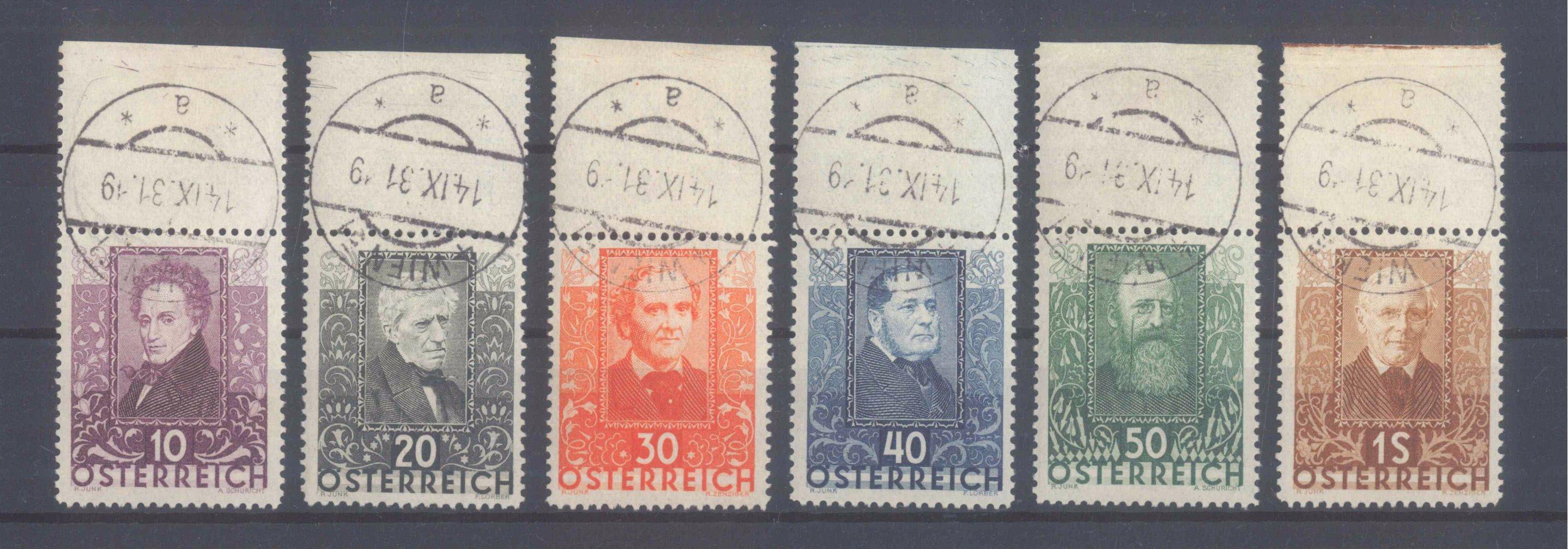 ÖSTERREICH 1931, Wohlfahrt: Österreichische Dichter
