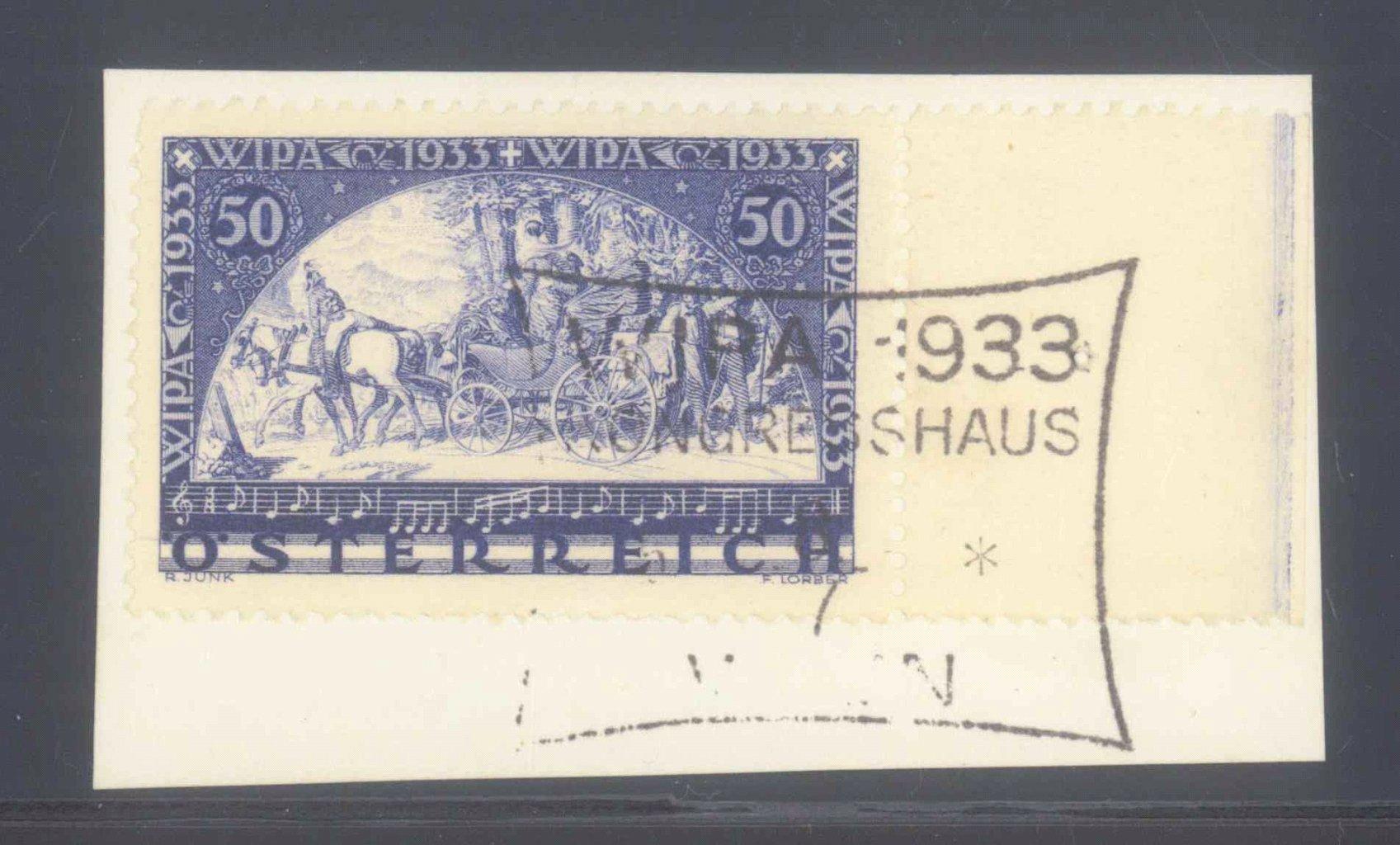 ÖSTERREICH 1933, WIPA – Marke, gewöhnliches Papier