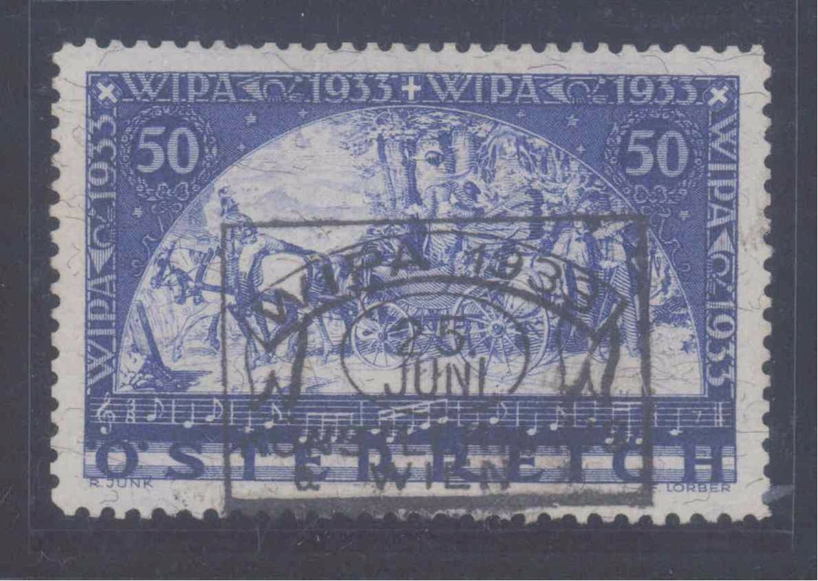 ÖSTERREICH 1933, WIPA – Marke, Faserpapier