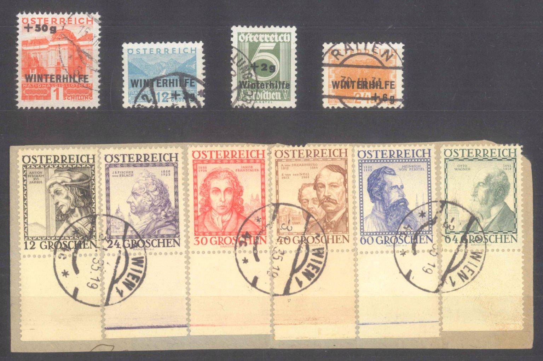 ÖSTERREICH 1933/34, Winterhilfe (I) I Wohlfahrt Baumeister