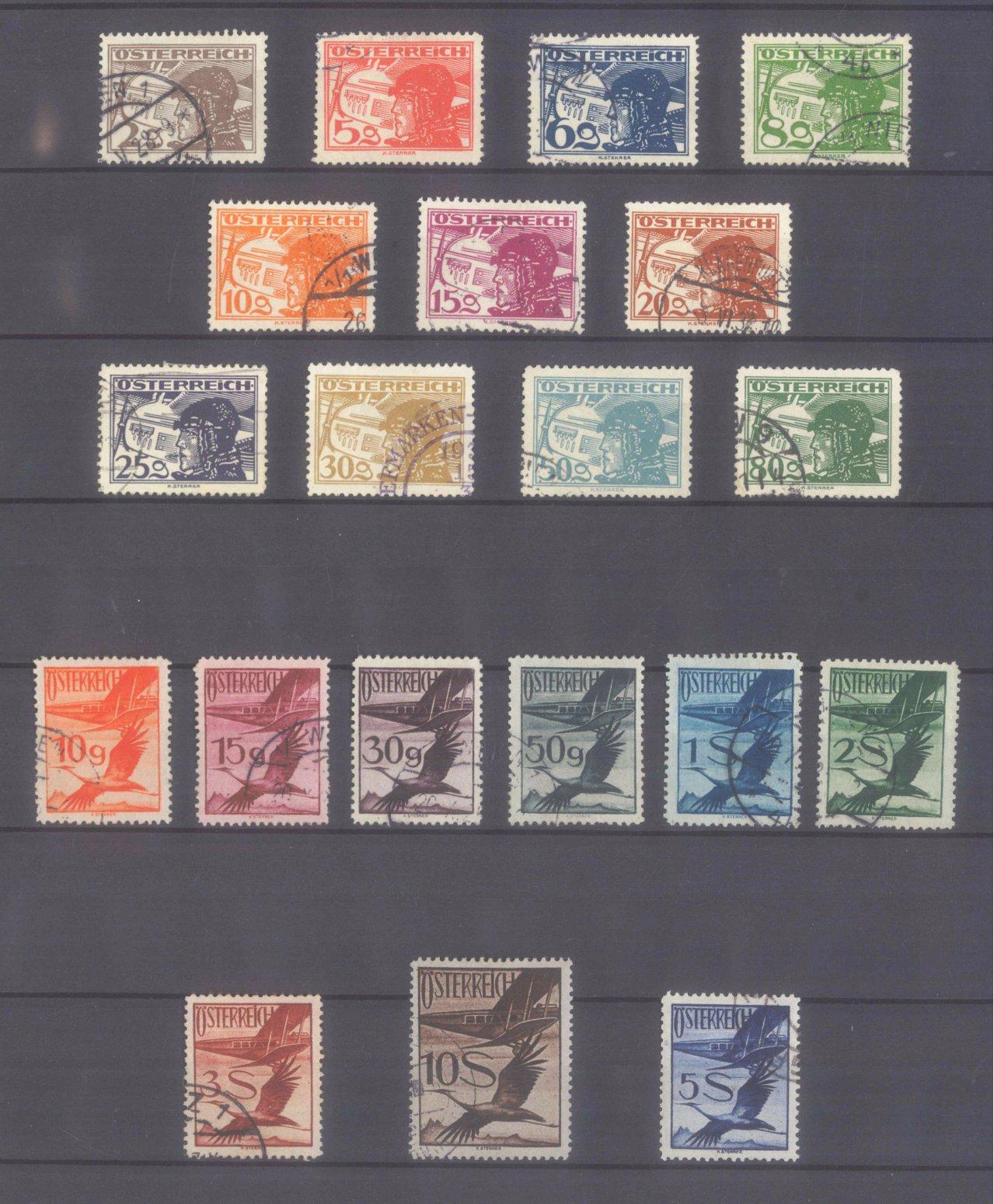ÖSTERREICH 1925/1930, Flugpost