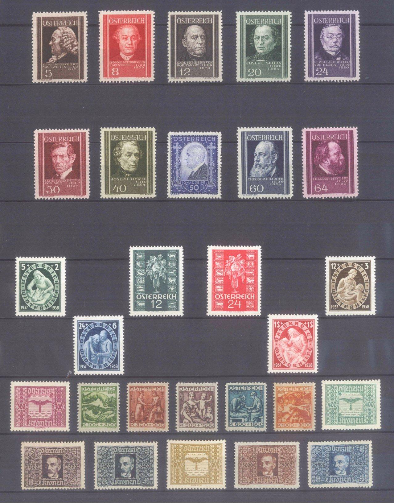 ÖSTERREICH 1922-1937