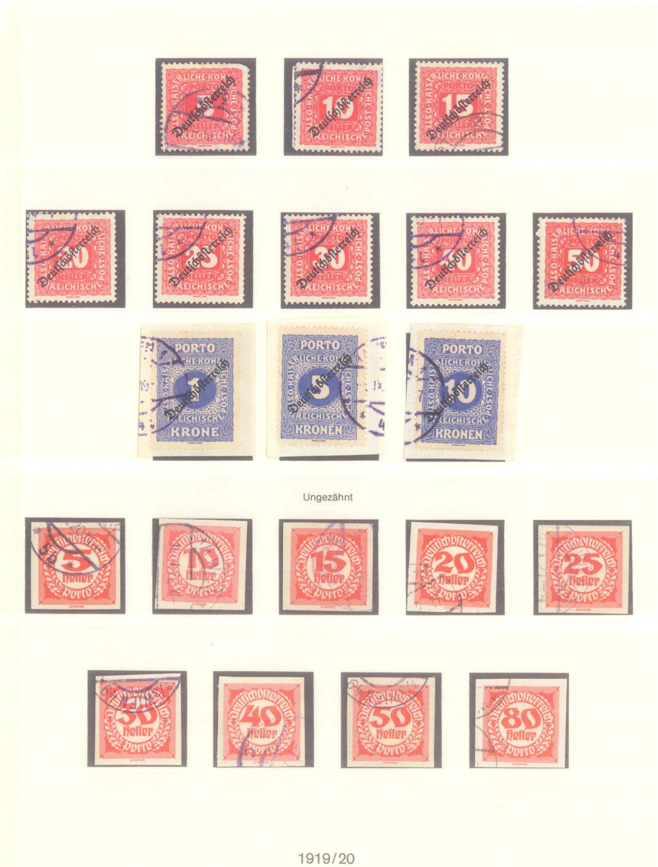 ÖSTERREICH 1919-1924, Portomarken