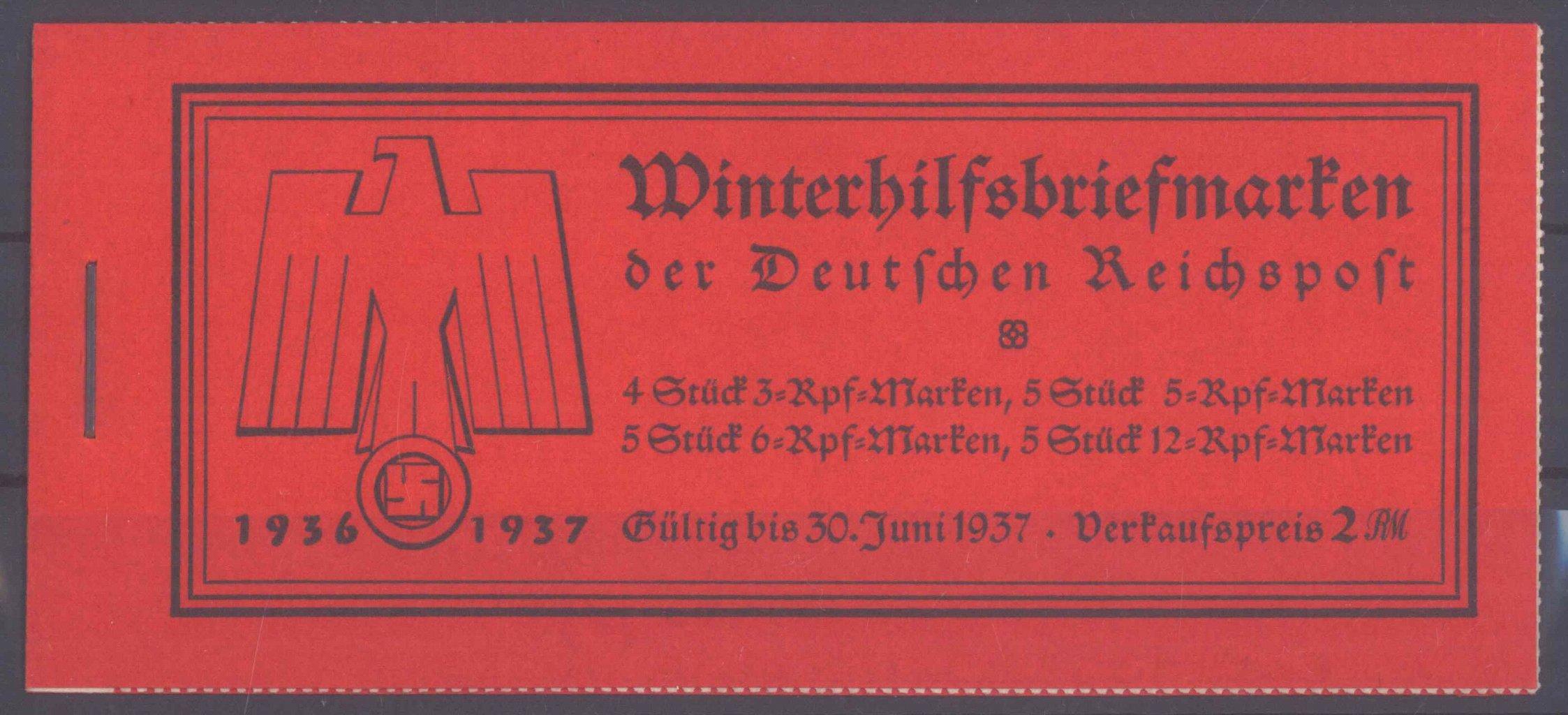 III. REICH, MARKENHEFTCHEN WINTERHILFSWERK 1936 (Bauten)