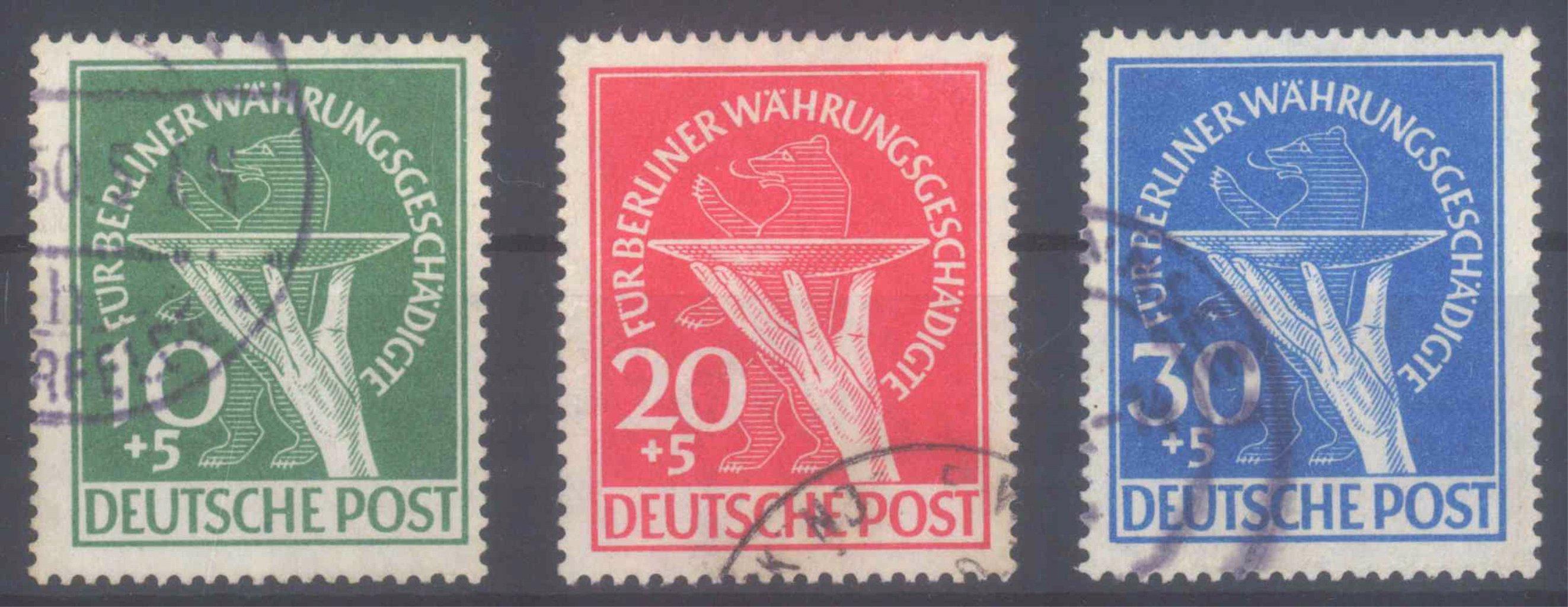 BERLIN 1949, Währungsgeschädigte