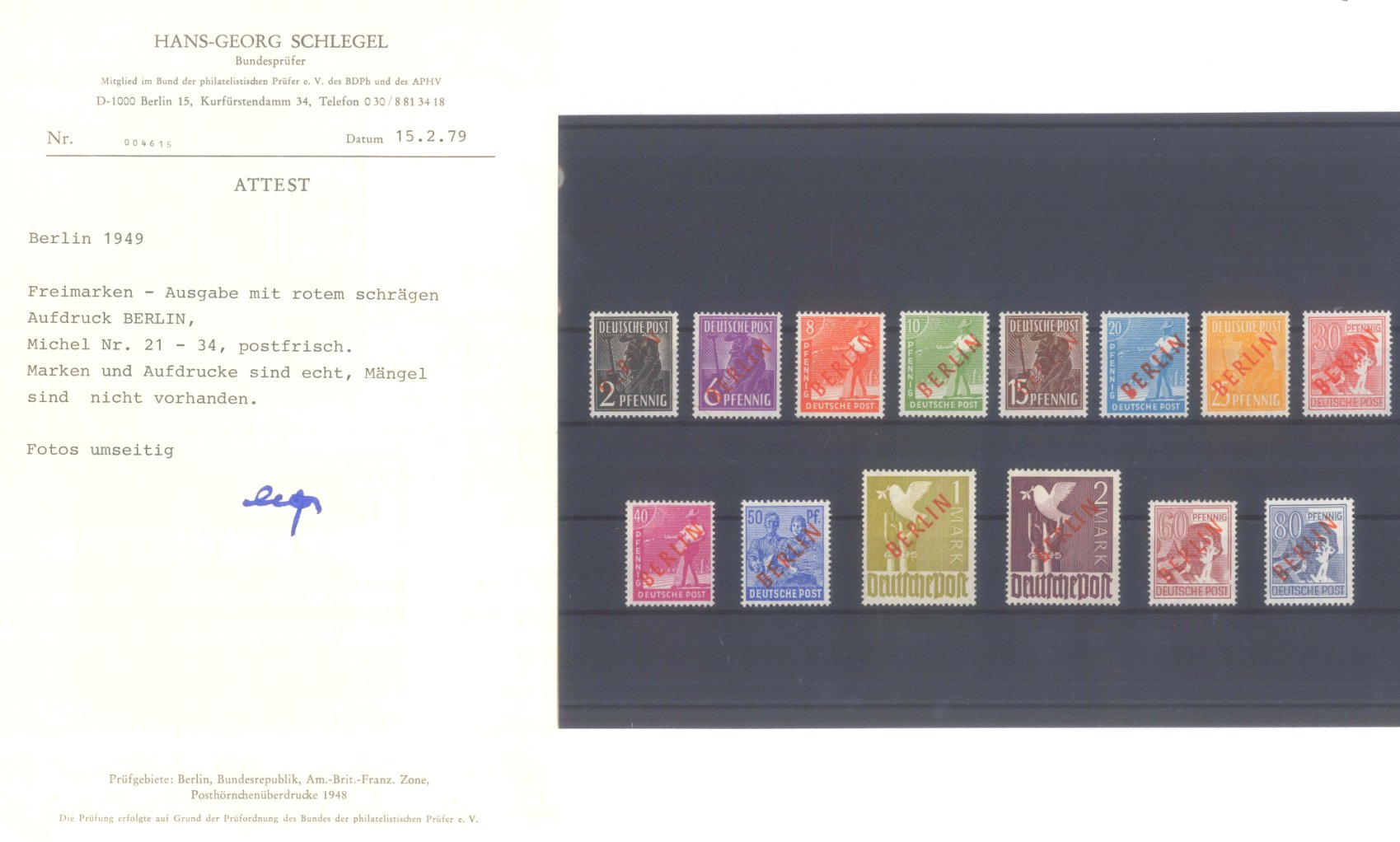 BERLIN 1949, Rotaufdruck-1