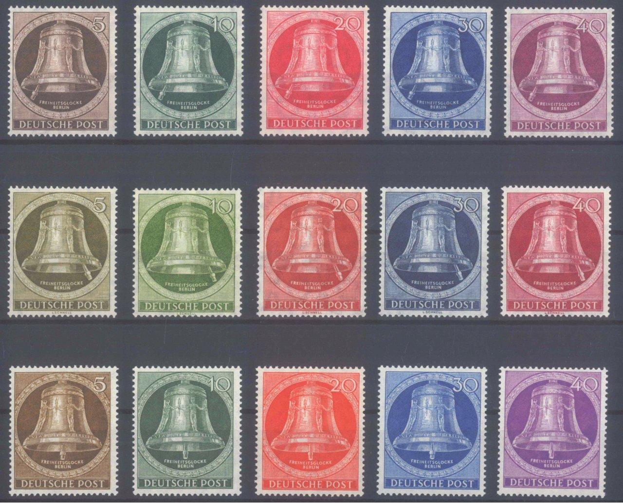 BERLIN 1951/1953, Glockensätze I-III komplett