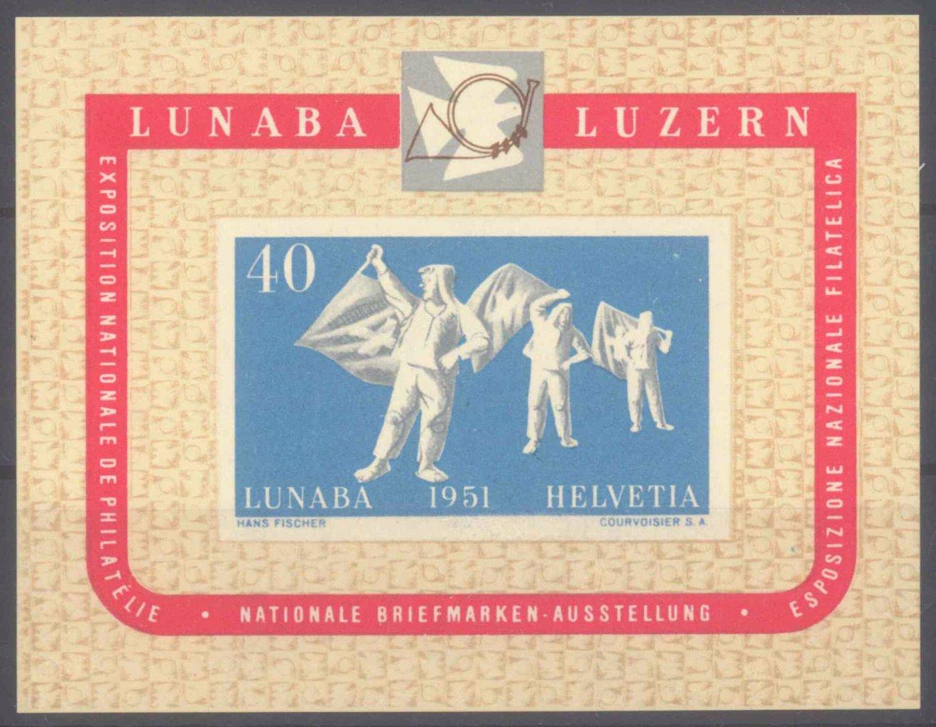 SCHWEIZ 1951, LUNABA – Block