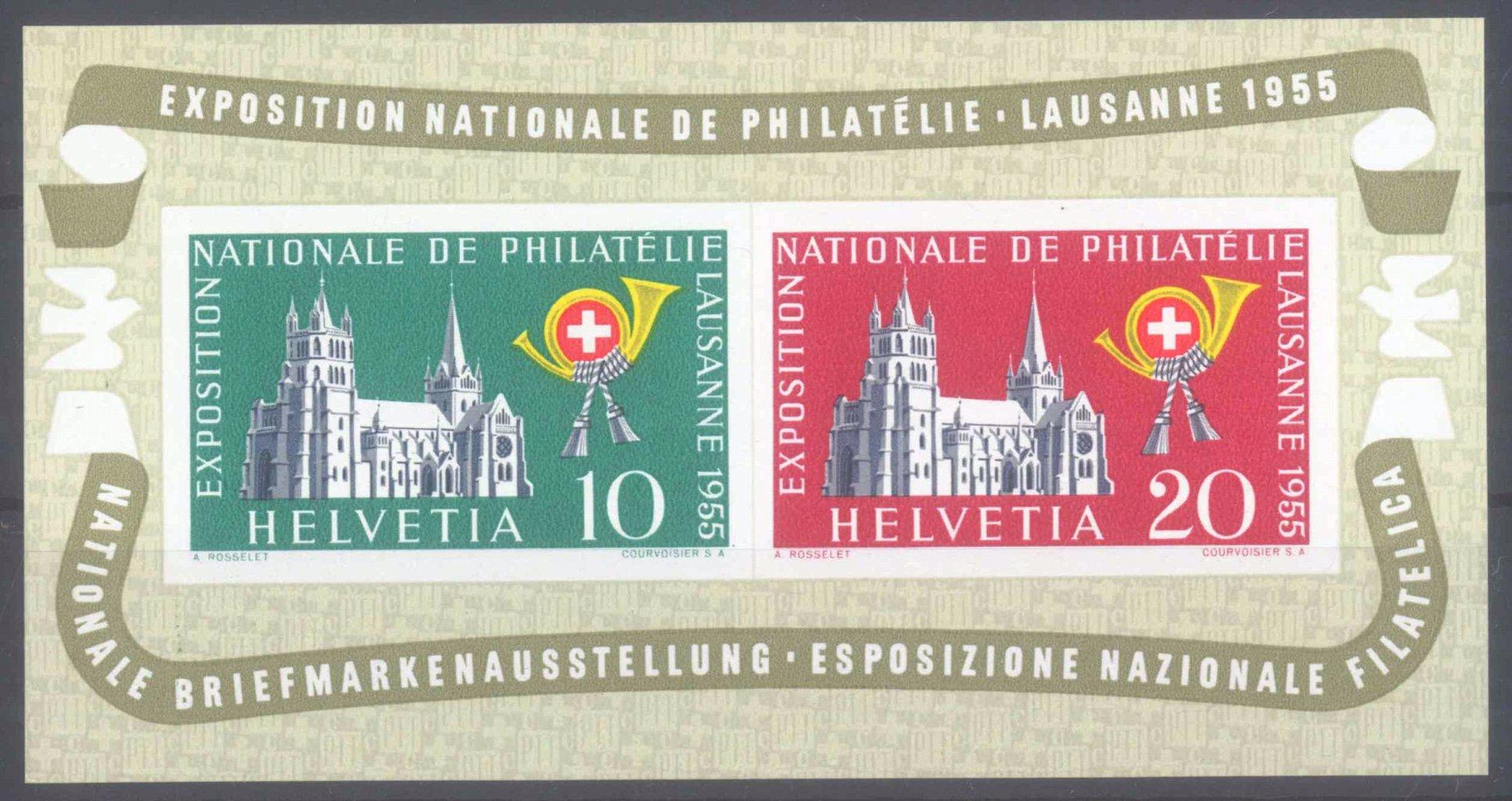 SCHWEIZ 1955, Lausanne – Block