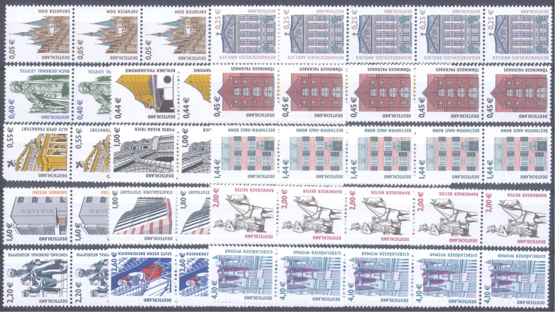 BUND 2002/2004, postfrische Nominale mit 94,- Euro