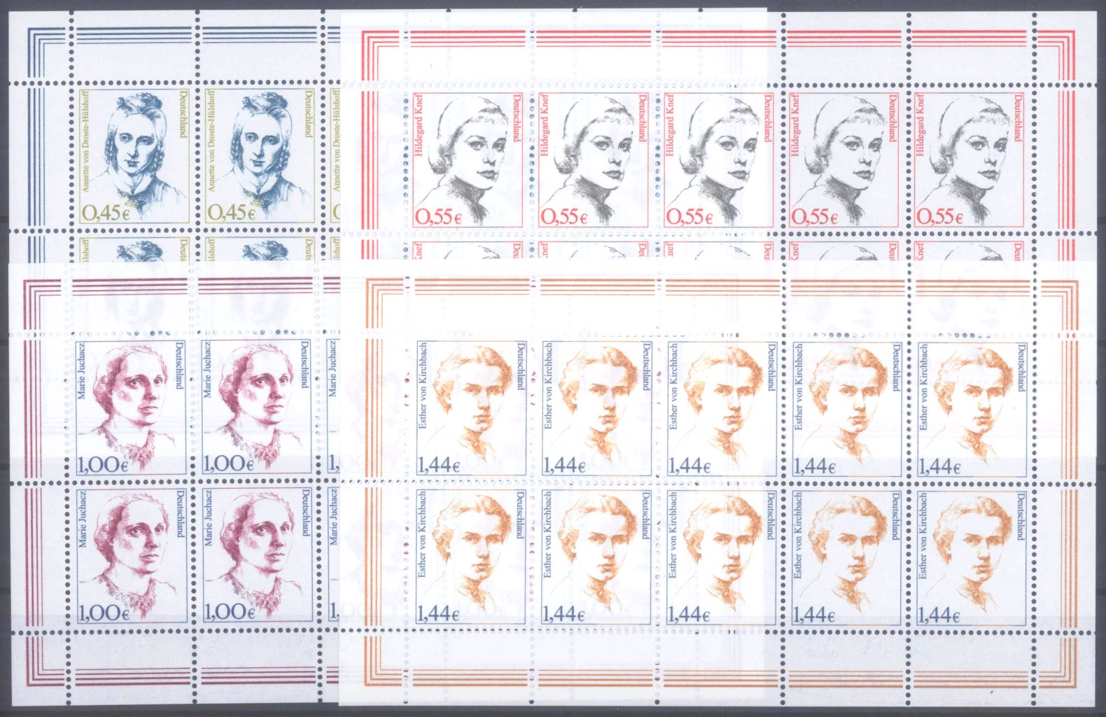 BUND 2002/2003, postfrische Nominale mit 34,- Euro