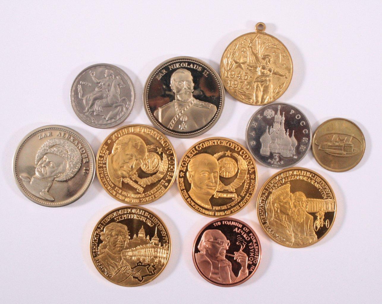 Konvolut Münzen und Medaillen, Thema Russland / CCCP
