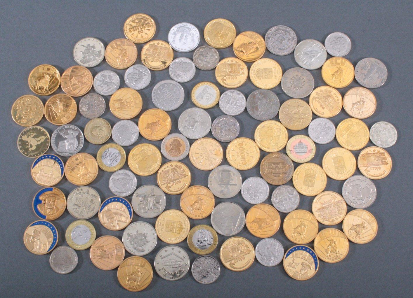Konvolut Medaillen, Thema EURO / Europa