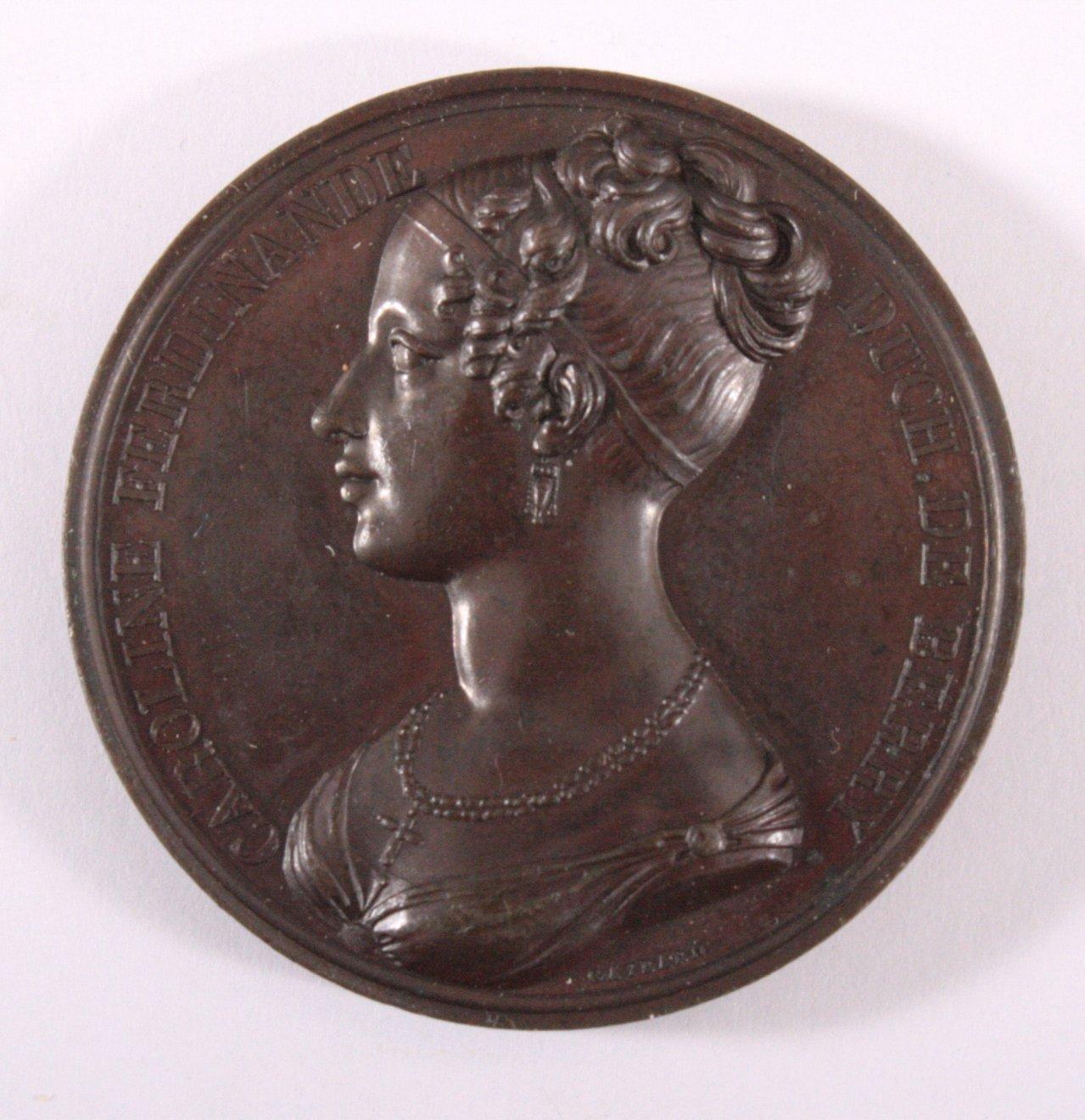 Bronze Medaille Frankreich 1816, vz