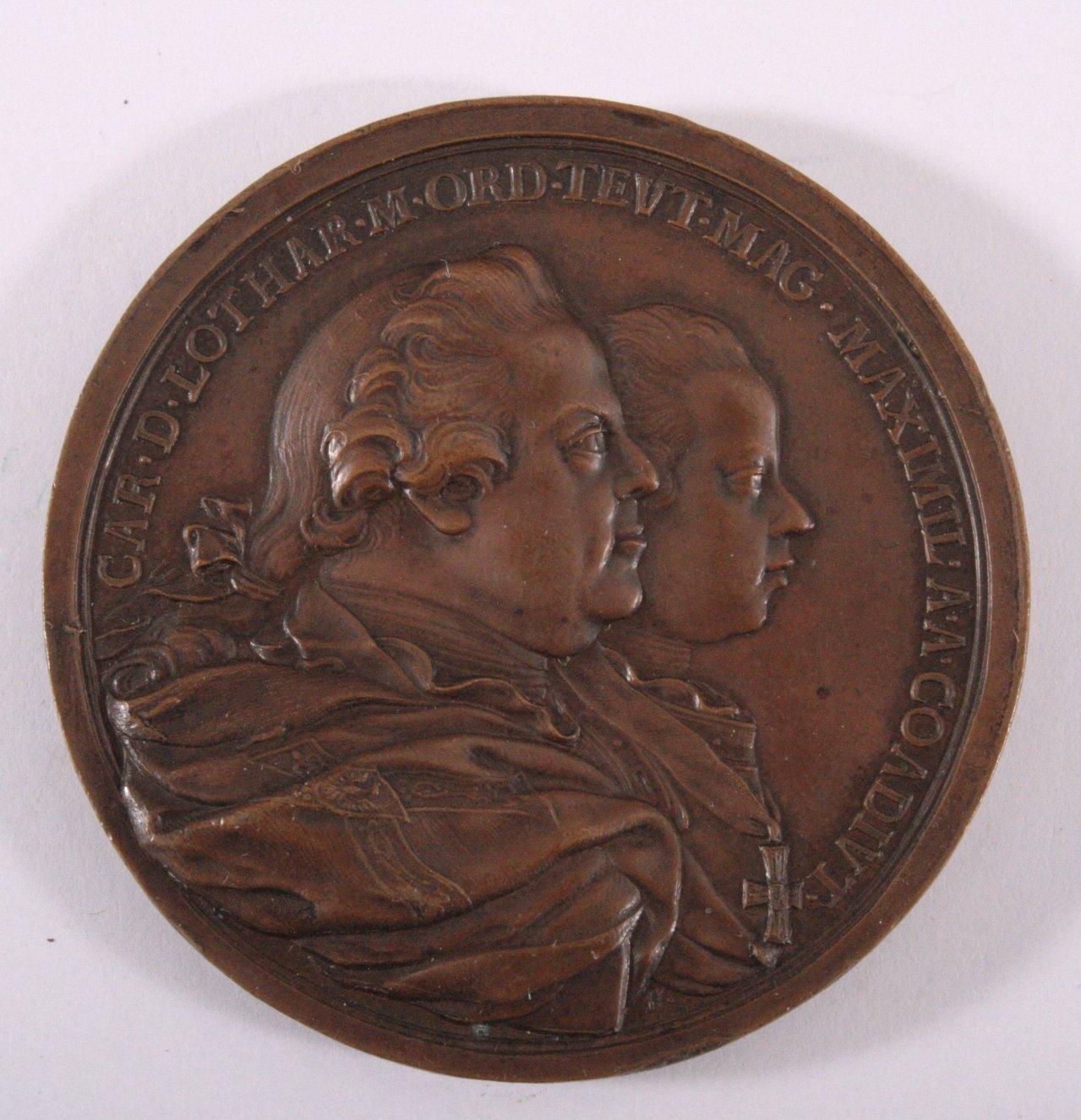 Bronze Medaille 1770, Maximilian Erzherzhog von Österreich