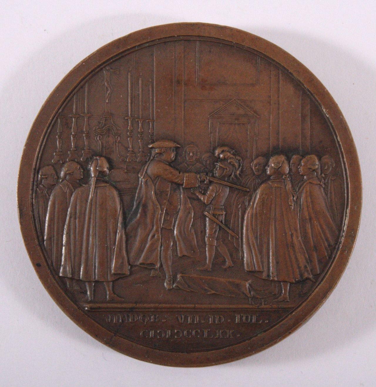 Bronze Medaille 1770, Maximilian Erzherzhog von Österreich-1
