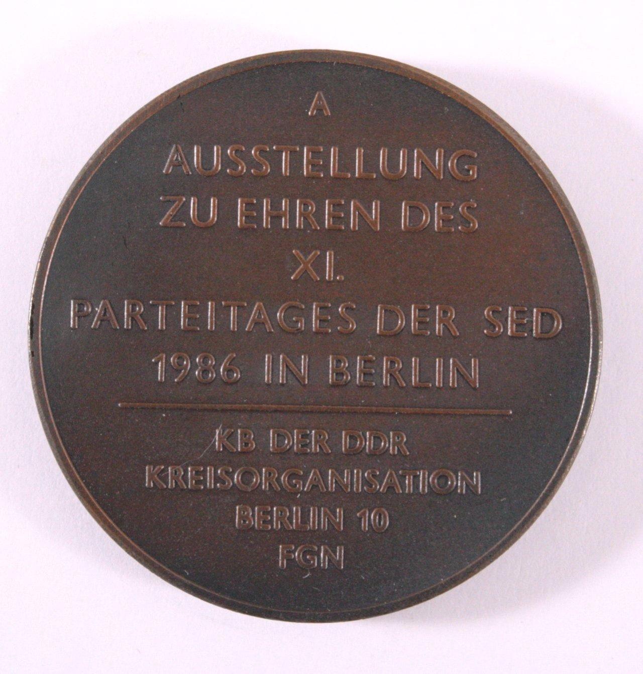 DDR Medaille, Robert Korb SED 1986-1