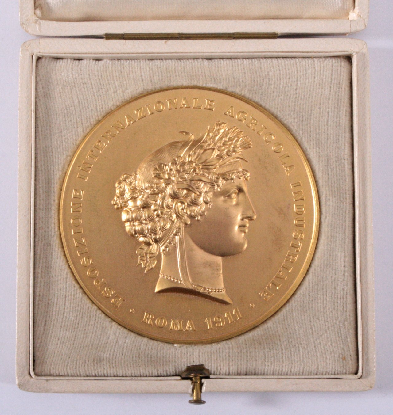 Bronze-Medaille, vergoldet, Esposizione Internazionale 1911