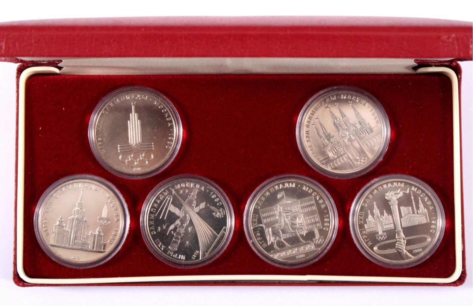 6 x 1 Rubel Gedenkmünzen, Olympische Spiele 1980