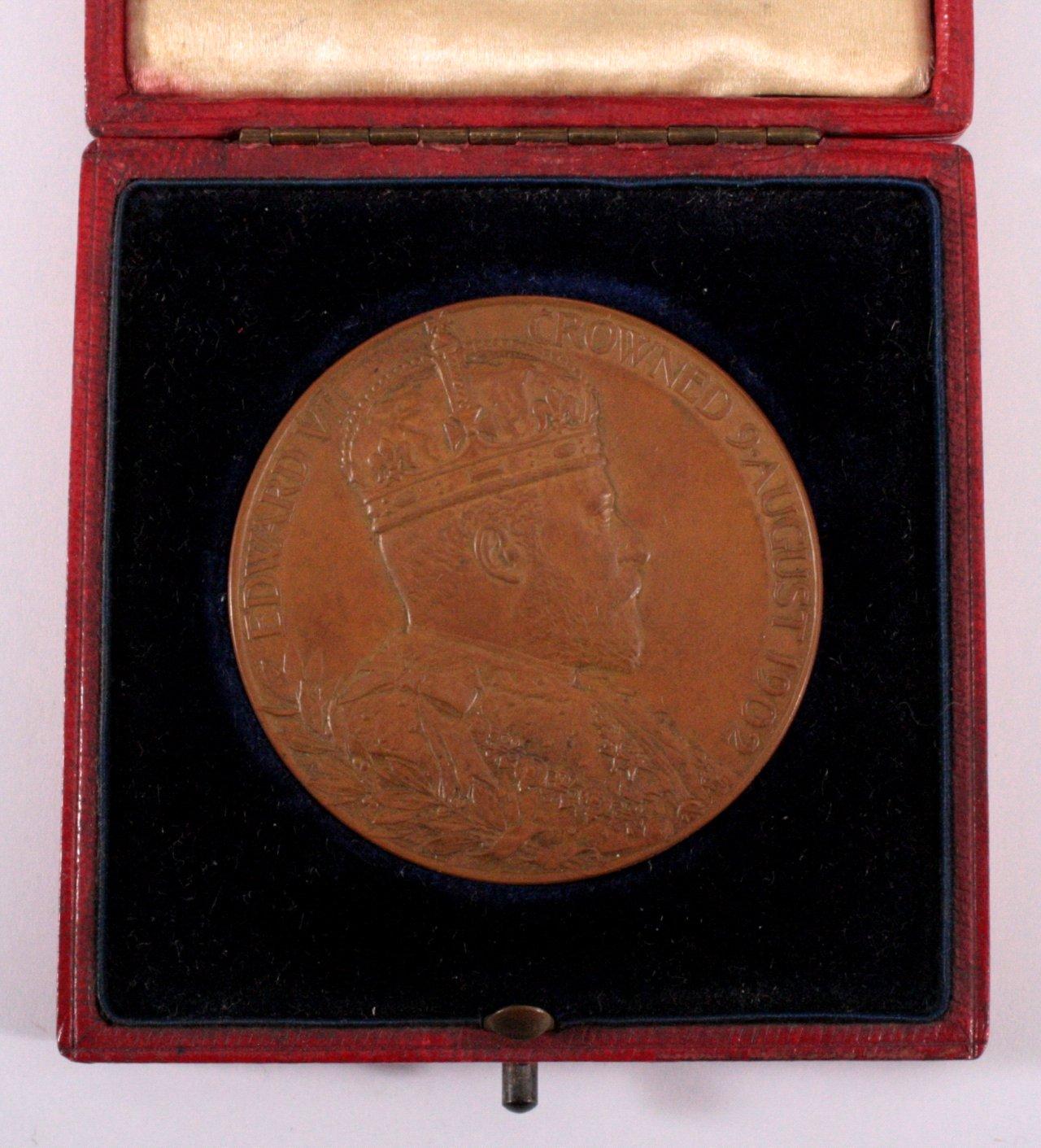 Offizielle Krönungsmedaille Edward VII 1902