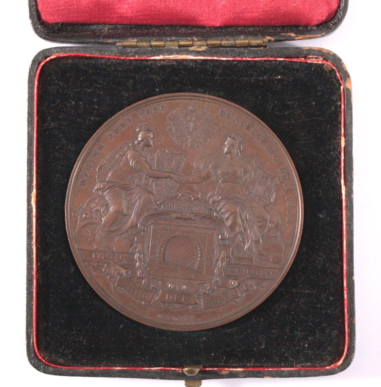 Bronze Medaille, Den Erbauern des Arlbergtunnels 1888