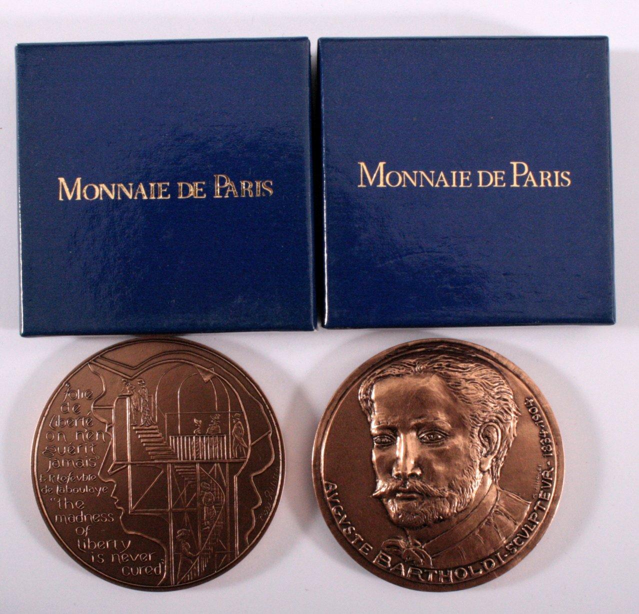 2 Bronze Medaillen Monnaie de Paris