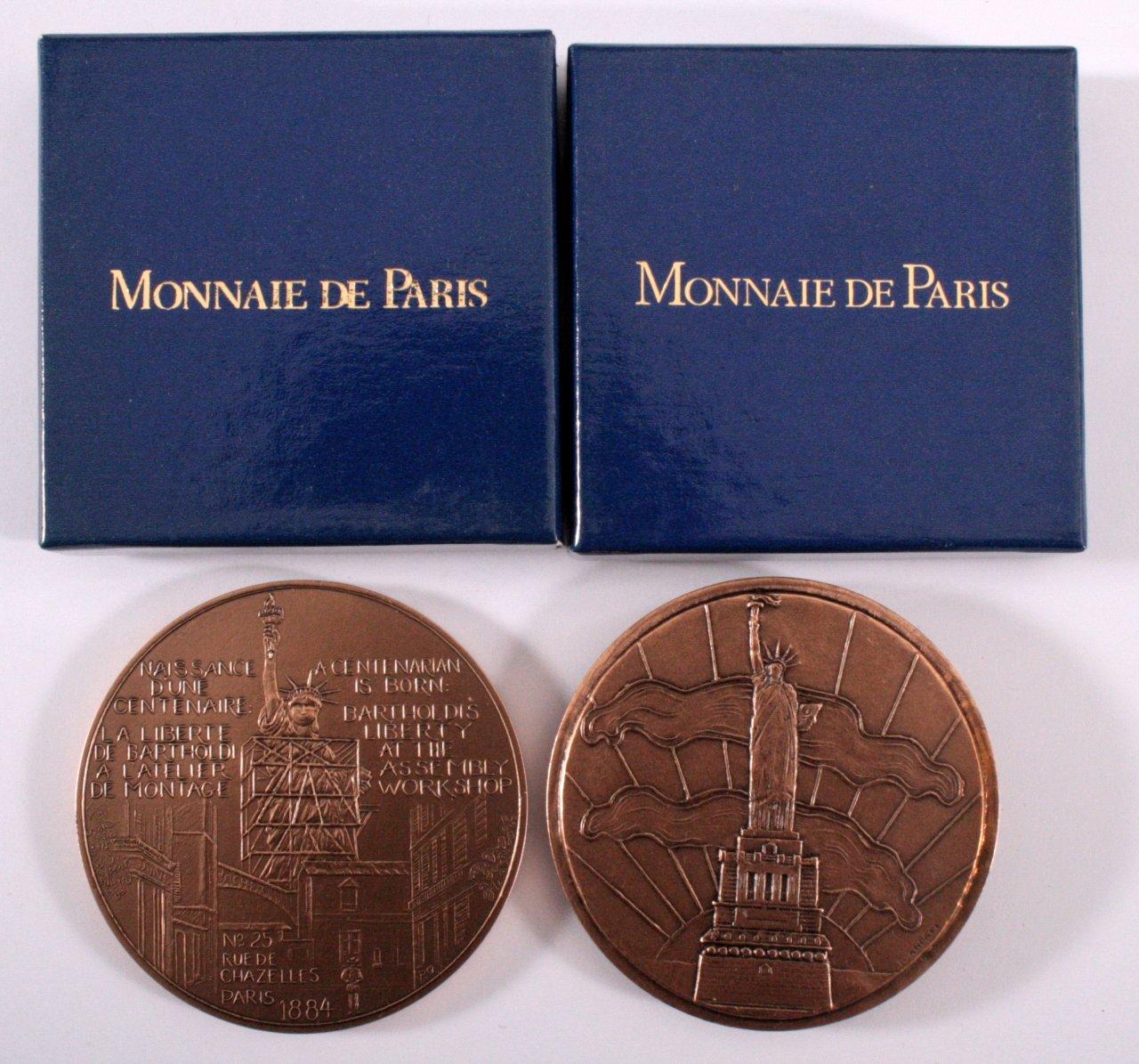 2 Bronze Medaillen Monnaie de Paris-1