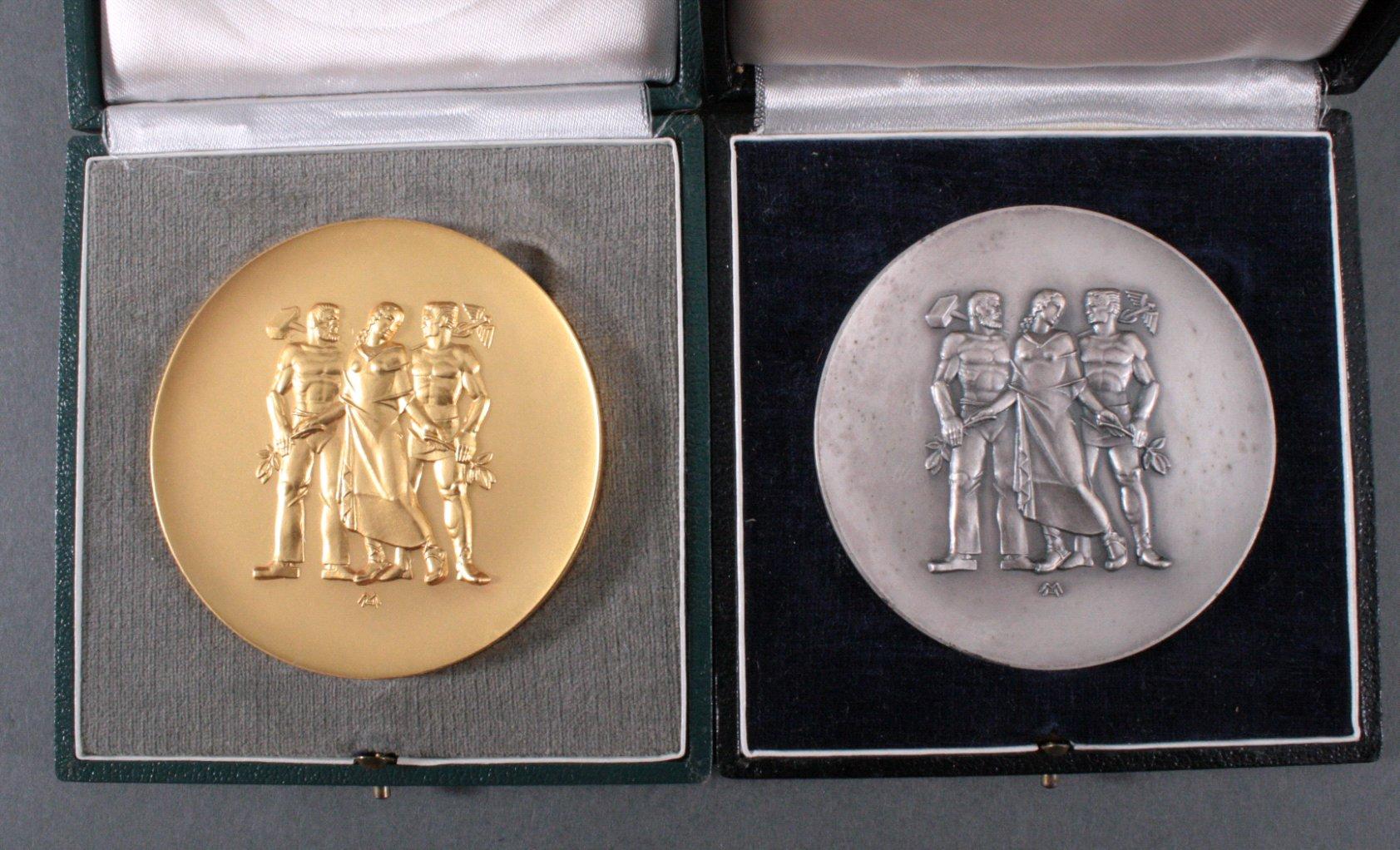 2 Medaillen, Rheinland-Pfalz, Heinrich Moshage