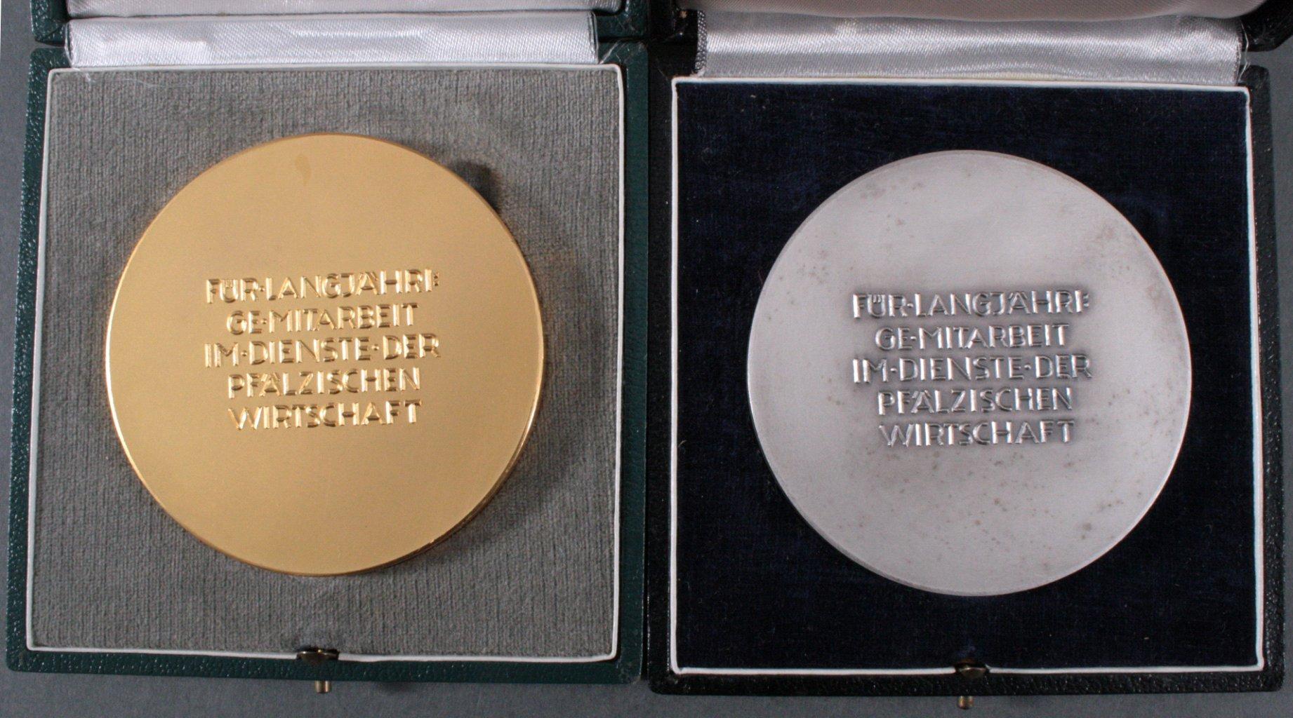 2 Medaillen, Rheinland-Pfalz, Heinrich Moshage-1