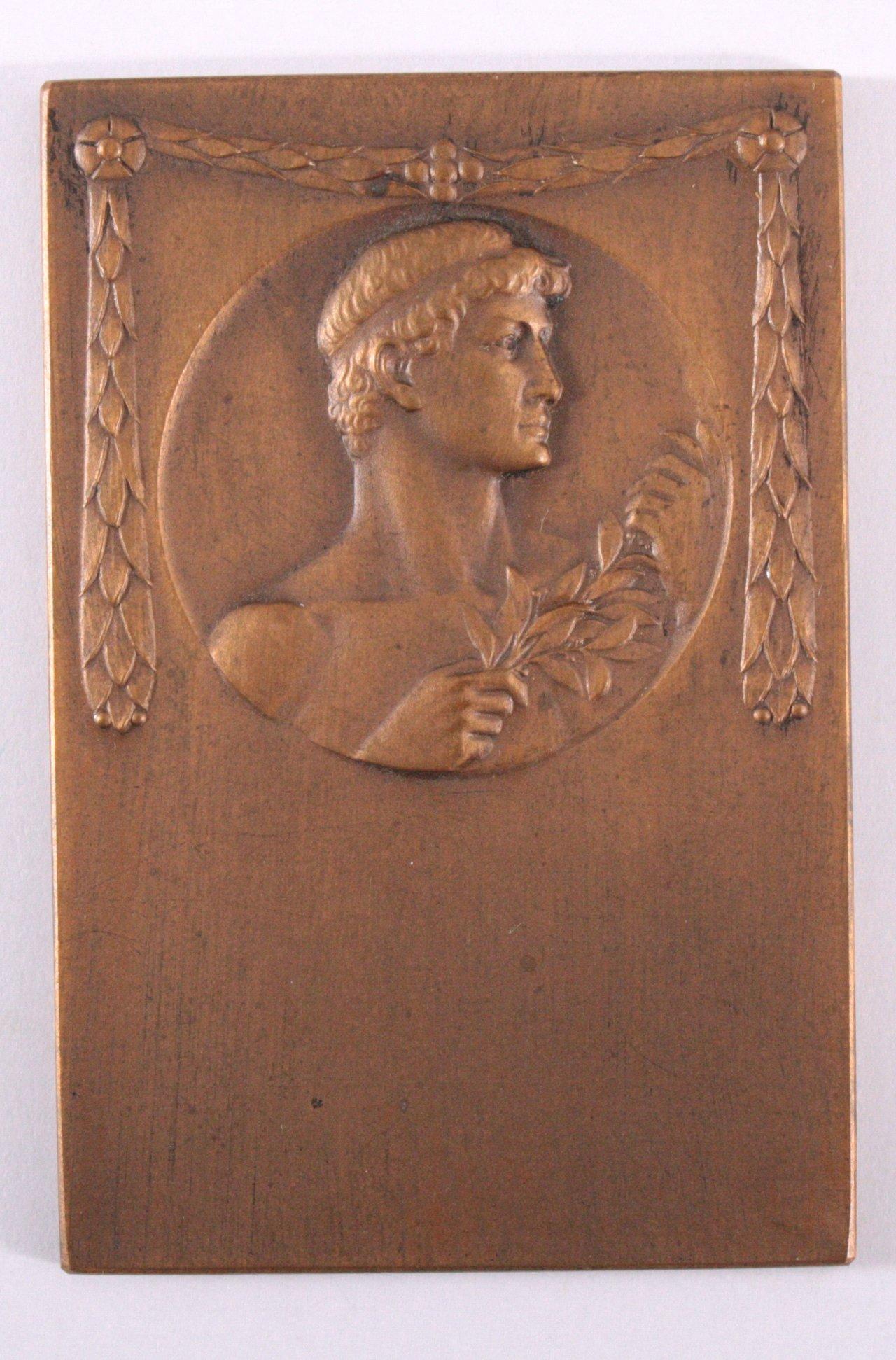 Jugendstil Plakette, Eduard Scherm Nürnberg