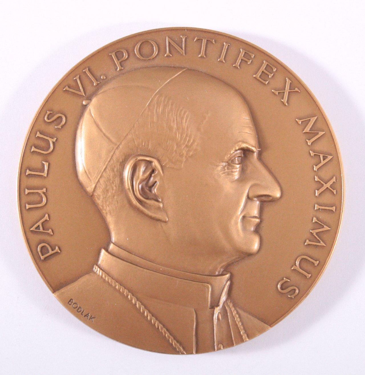 Medaille Vatikan Gedenkprägung Papst Paulus VI.