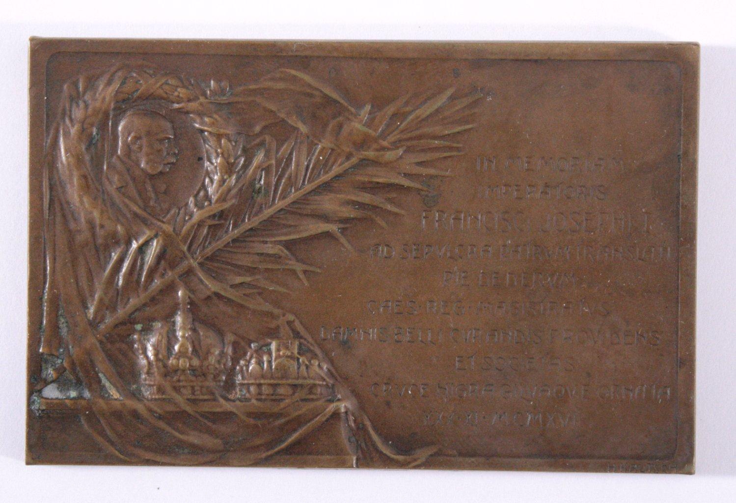 Plakette franz joseph 1916 in memoriam badisches for Otto kautsch