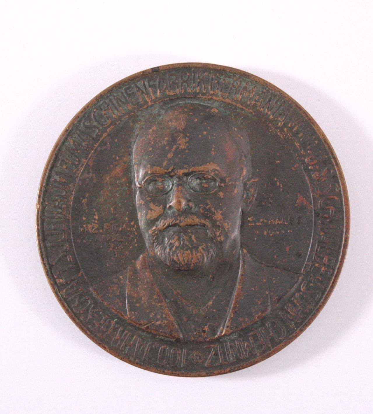 Medaille Maschinenfabrik Schwalbe, Chemnitz 1911