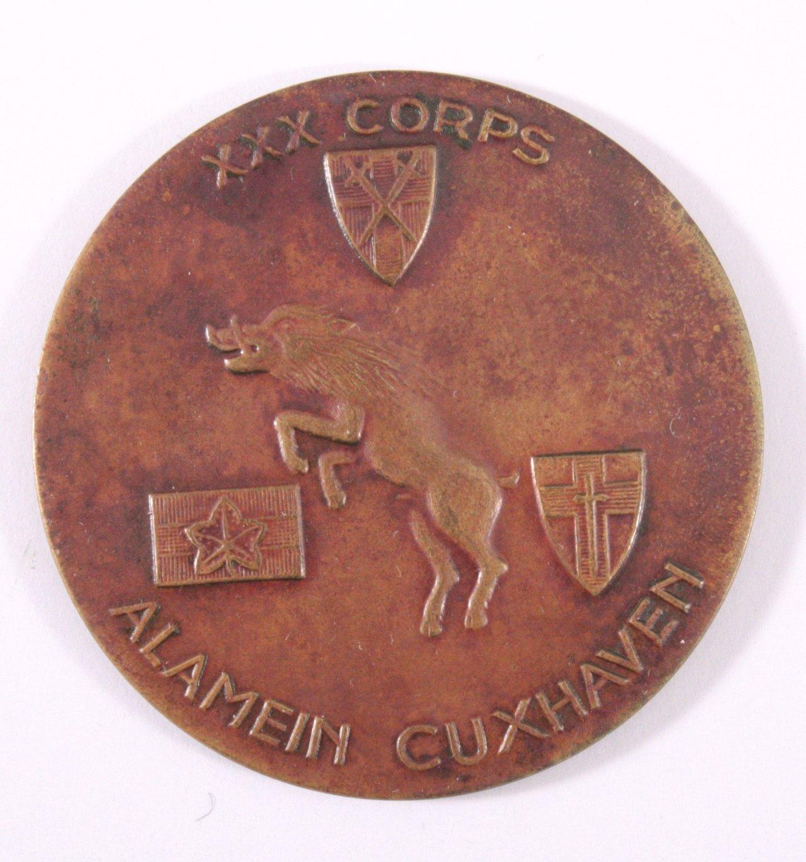 Medaille, XXX. Britisches Corps Alamein Cuxhaven