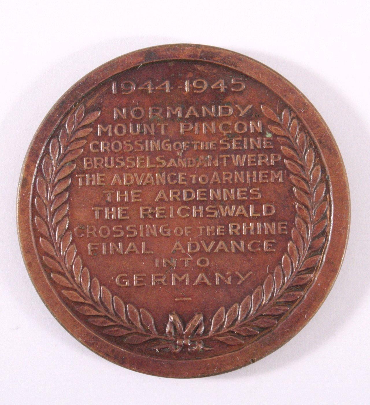 Medaille, XXX. Britisches Corps Alamein Cuxhaven-1
