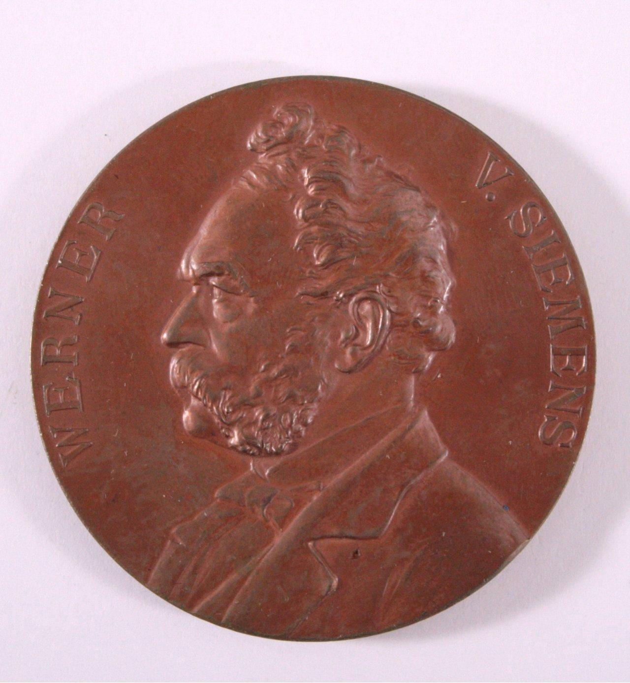 Medaille, Werner von Siemens, 1897