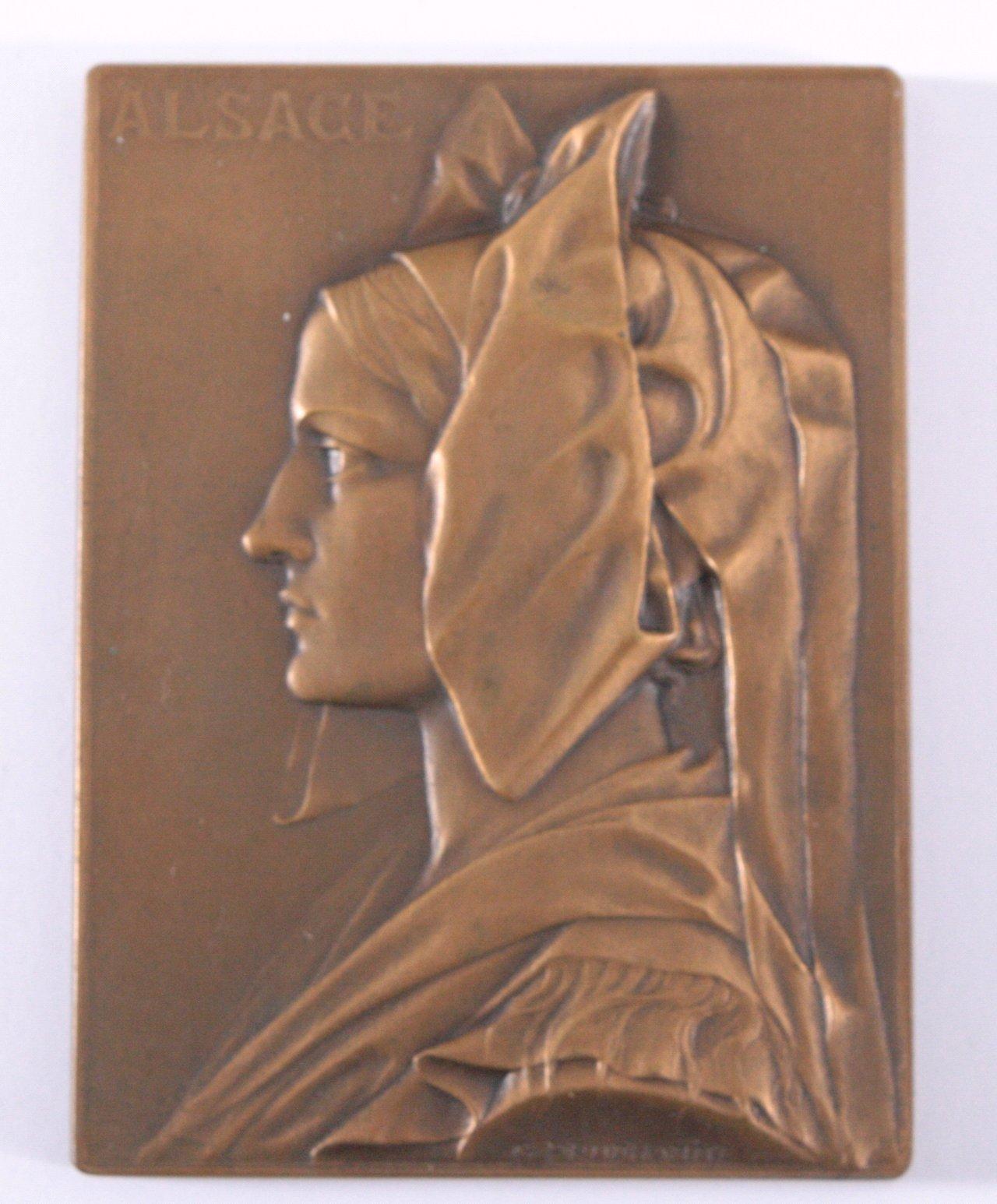 Plakette, Alsace und Straßbourg, Prudhomme 1919