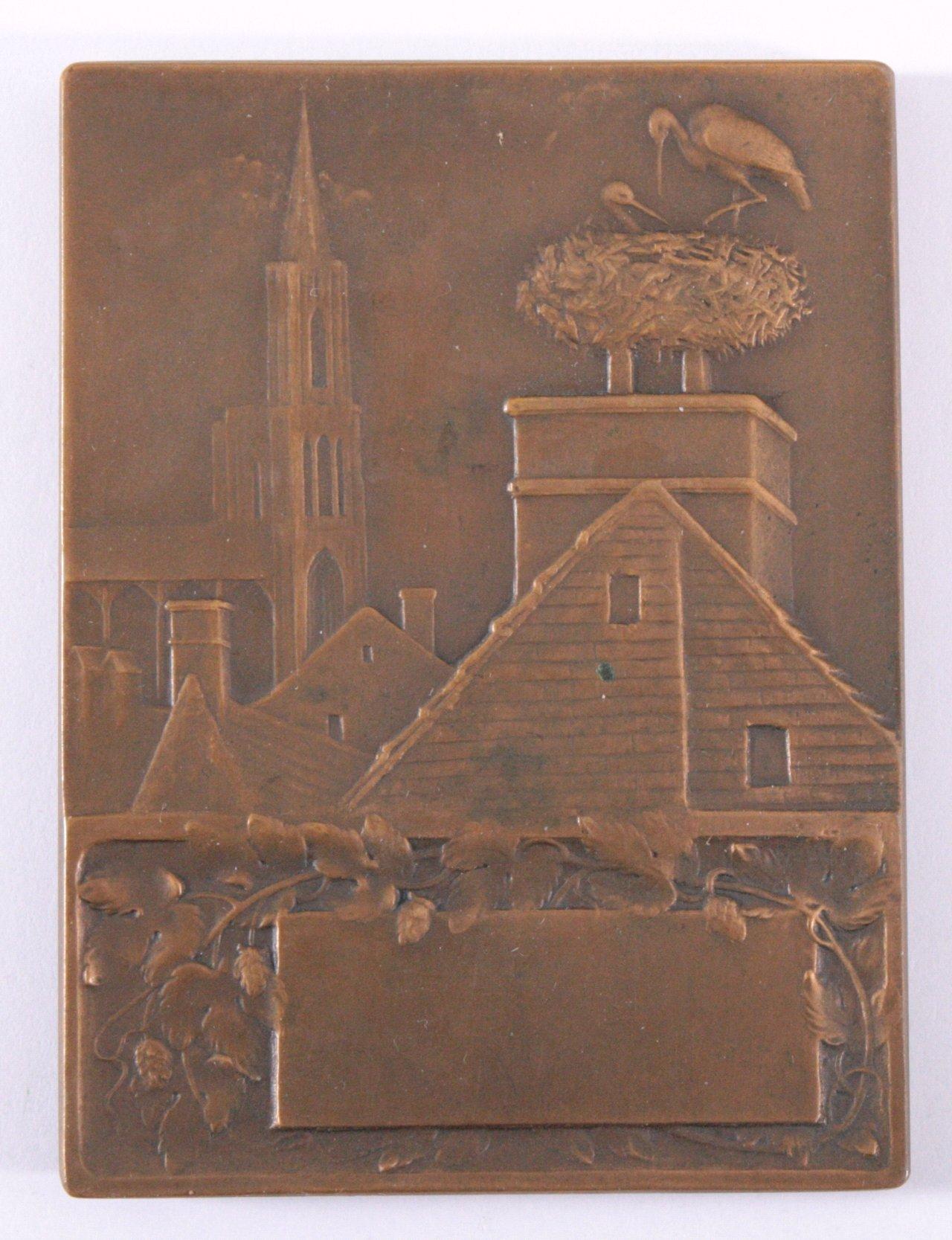 Plakette, Alsace und Straßbourg, Prudhomme 1919-1