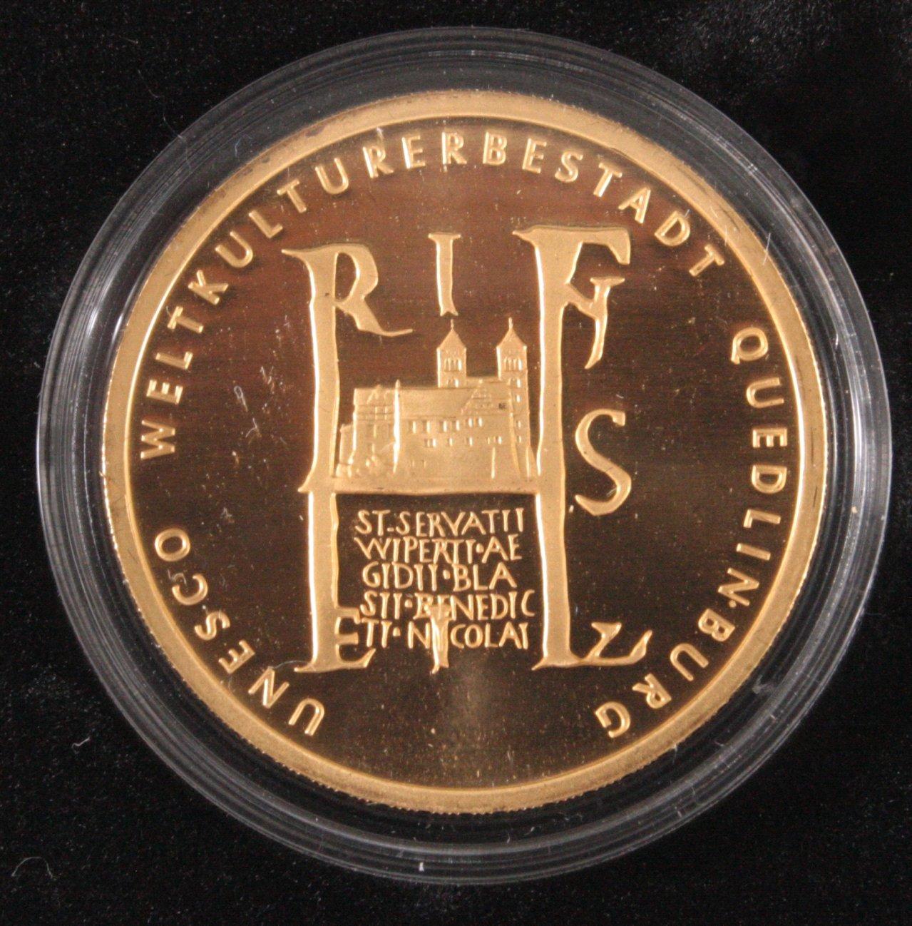 100 Euro UNESCO Welterbestadt Quedlinburg