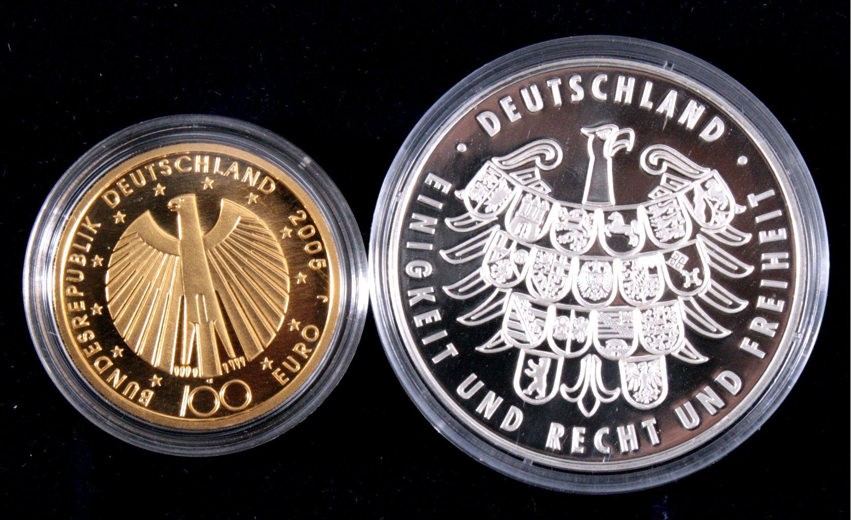 100 Euro Goldmünze Fifa Fußball Weltmeisterschaft 2006-1