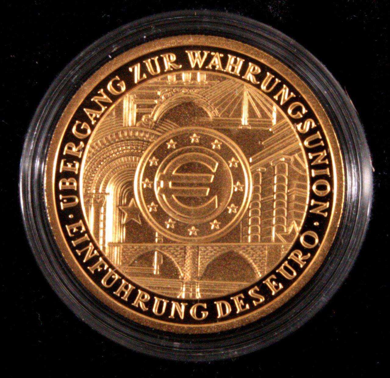 Erste deutsche Euro Goldmünze, 100 Euro