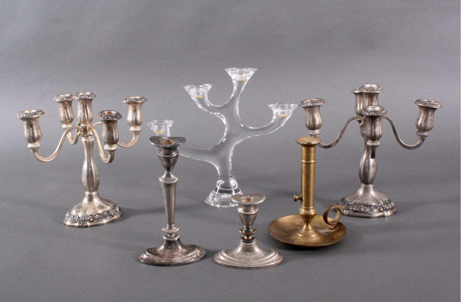 Sammlung von 6 Kerzenständer