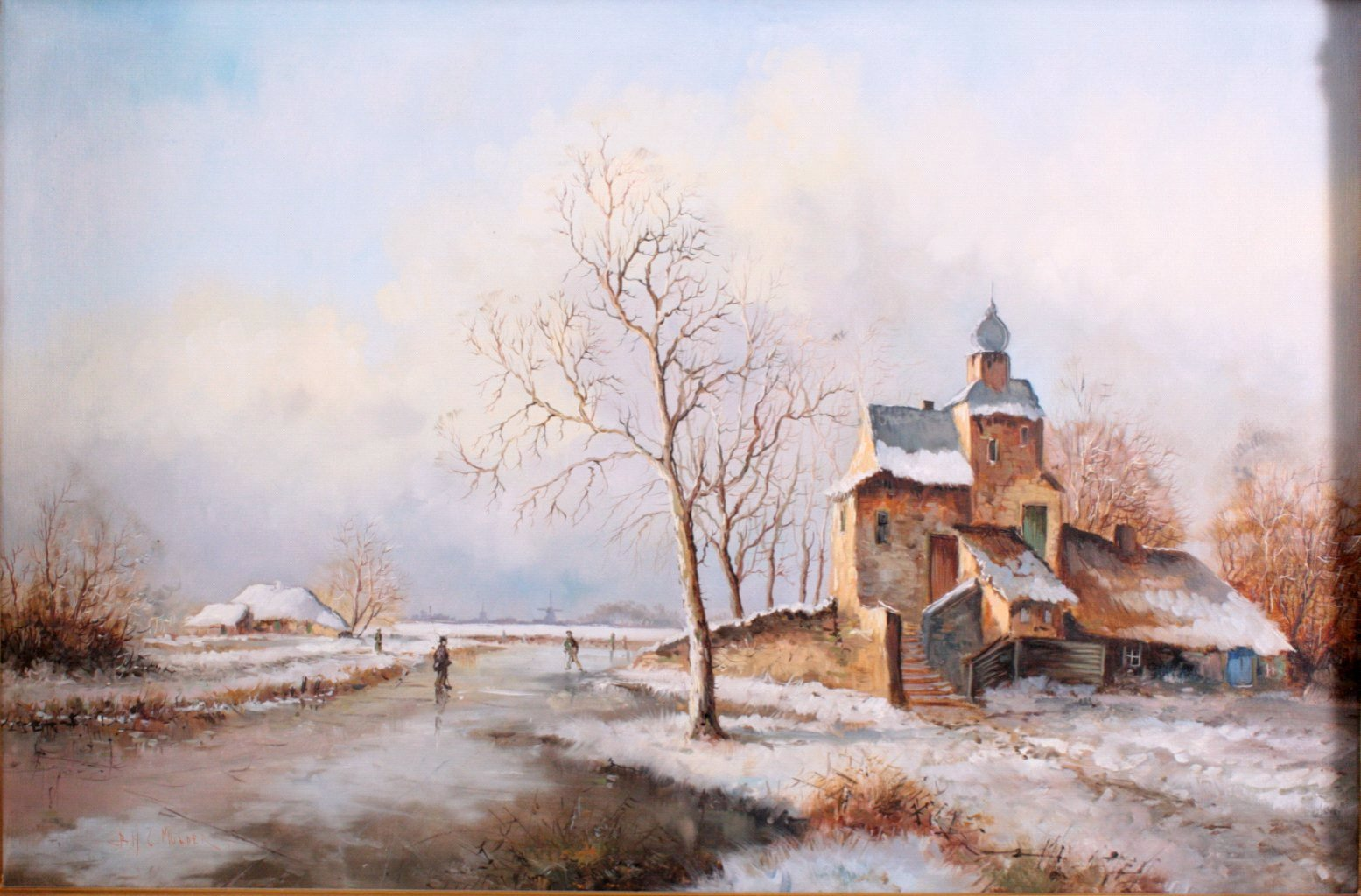 Mulder ?-?, Winterliche Landschaft-1
