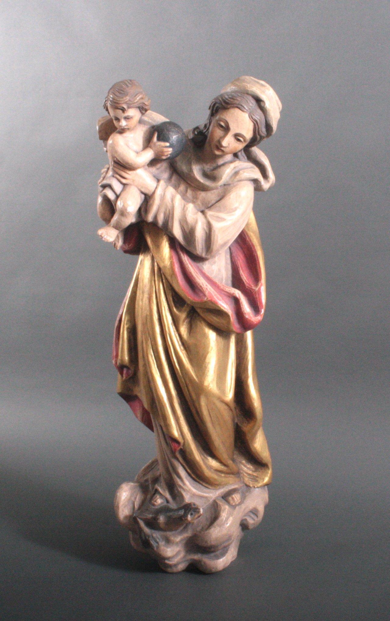 """Große Holzskulptur """"Maria mit Kind"""""""