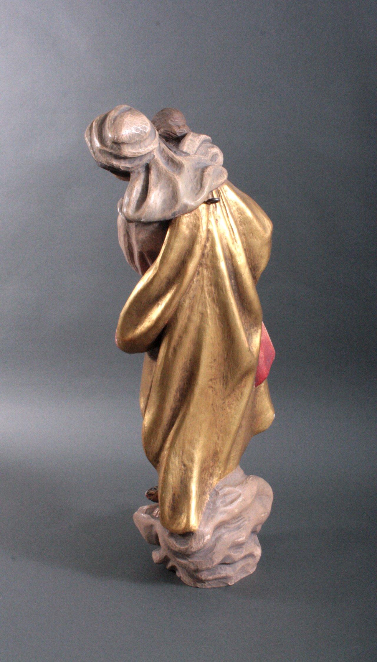 """Große Holzskulptur """"Maria mit Kind""""-1"""