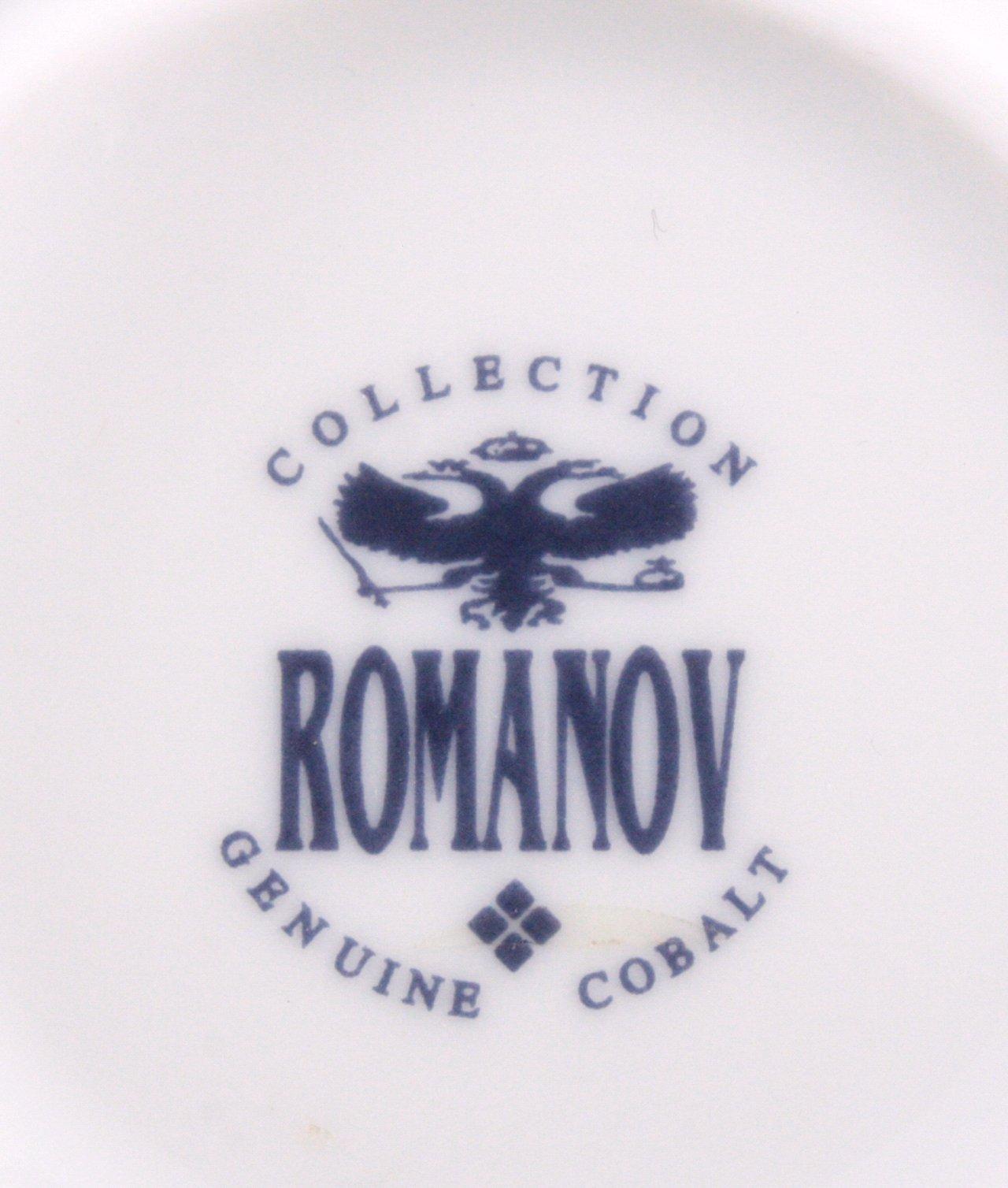 Romanov Kaffee- und Speiseservice, Kobalt Golddekor-2